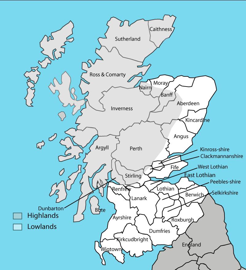 Map Of Uk Highlands.Scotland